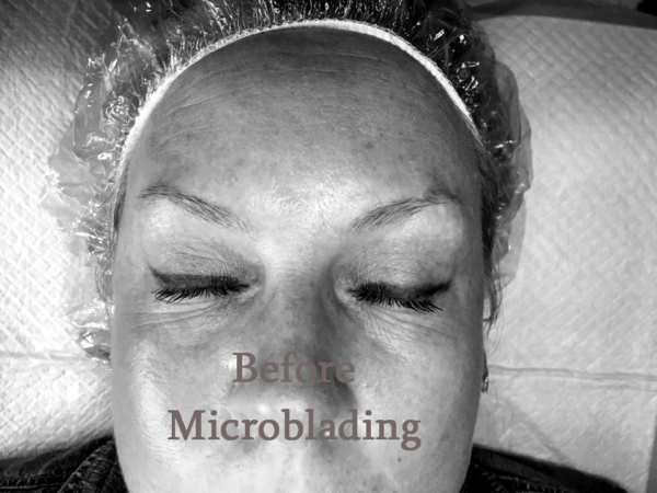 Microblade Brows Grand Rapids before - GR Lash Lounge