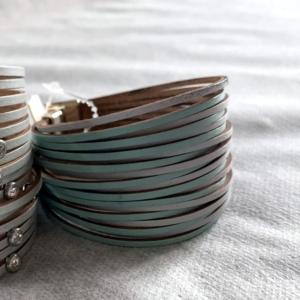 Green Leather Bracelet - GRLash.com
