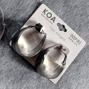 Silver Earrings Bold Hoops - GRLash.com