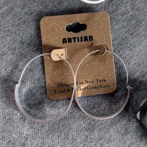 Silver Earrings Unique Hoops - GRLash