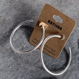 Silver Hoop Earrings - GRLash.com